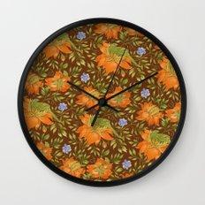 Green bird pattern Wall Clock
