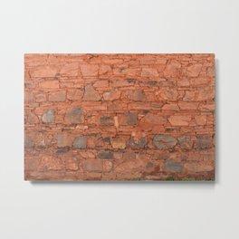 Tibetan Stone Wall Metal Print