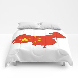 Chines Map Flag Comforters