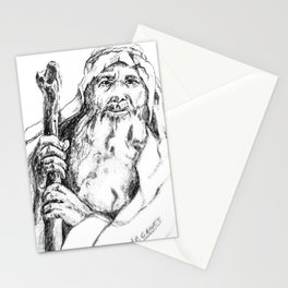 Moses, graphite drawing Stationery Cards