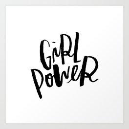 Brush Lettered Girl Power Art Print