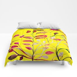 Red and Green Leaves! Yellow Sunshine! Comforters