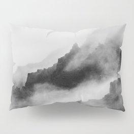 Foggy Mountains Black and White Pillow Sham