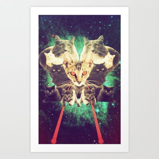 Galactic Cats Saga 1 Art Print