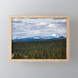 Lassen Peak view Framed Mini Art Print