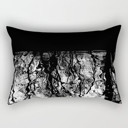 Black and White Tree Branch Silhouette Reflections Rectangular Pillow