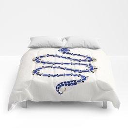 Navy & Gold Serpent Comforters
