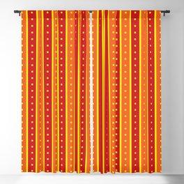 Stripes Pattern 205 (orange red) Blackout Curtain