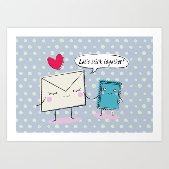 Stick Together Art Print