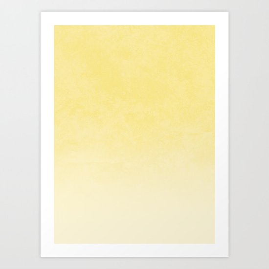 Ombre - in Gold Art Print
