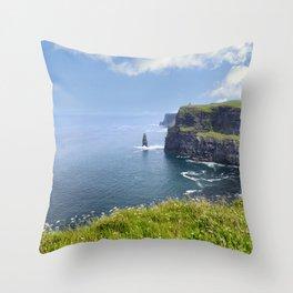 Atlantic Ocean Southern Ireland Throw Pillow