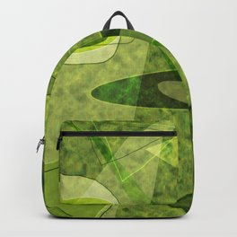 Retro Style Avocado Green Abstract Backpack