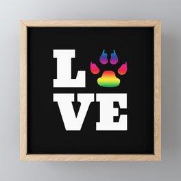 Rainbow paw Framed Mini Art Print