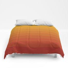 Gradient, Yellow Red Comforters