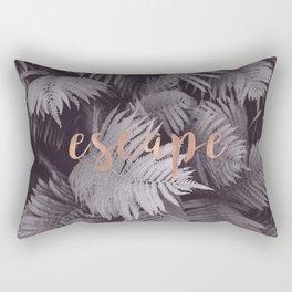 Rose gold escape to nature Rectangular Pillow