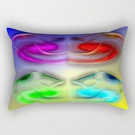 Surreal smiling ... Rectangular Pillow
