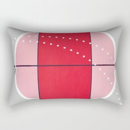 August - black and white graphic Rectangular Pillow