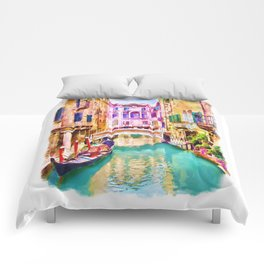 Venice Canal 2 Comforters