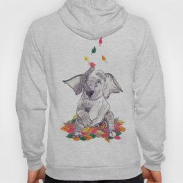 Baby elelphant and leaves Hoody