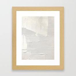 Relief [1]: an abstract, textured piece in white by Alyssa Hamilton Art Gerahmter Kunstdruck