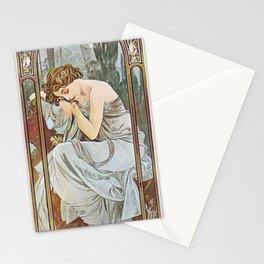 Alphonse Mucha Nocturnal Slumber Stationery Cards