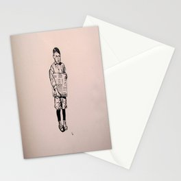 1900's paper boy Stationery Cards