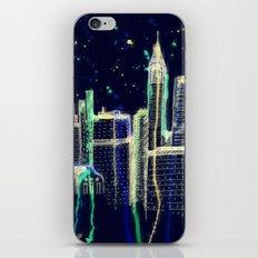 Dusk Falls Over Manhattan iPhone & iPod Skin