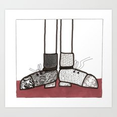 in my shoes Art Print