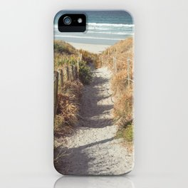 Pathway to Mangawhai Heads Beach iPhone Case
