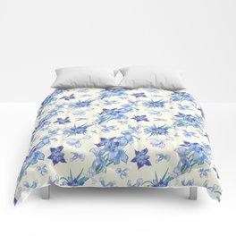 Bohemian orchids spring fresh joy Comforters