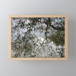 Foggy lake Framed Mini Art Print