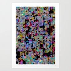 smack my glitch up Art Print