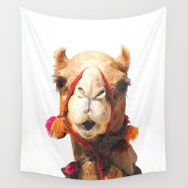 Camel Portrait Wall Tapestry