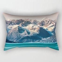 Scenic sunset Alaskan nature glacier landscape wilderness Rectangular Pillow