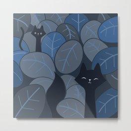 Fox & Cat in the night jungle safari 065_03_06 Metal Print