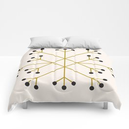 Mod Snowflake Olive Comforters