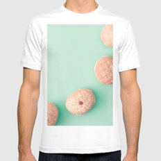 Donuts over mint MEDIUM White Mens Fitted Tee