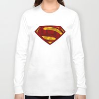 man of steel Long Sleeve T-shirts featuring MAN OF STEEL by thebuffaloarmy