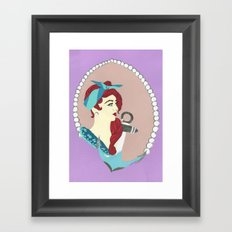 Girl Sailor Framed Art Print