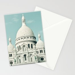Paris Photography Sacre Coeur Montmartre France Europe Stationery Cards