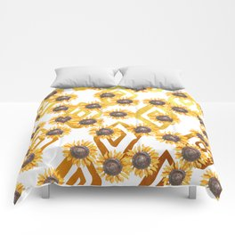 Golden Sunflowers Comforters