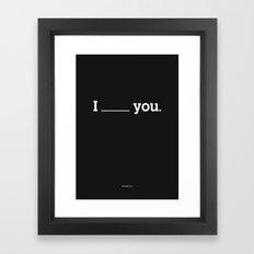NO FEELING IS PERMANENT Framed Art Print