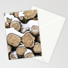 Tree Trunks covered with snow l Fine Art Nature Photography l wood art print Stationery Cards