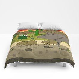 Javelinas in The Sonoran desert Comforters