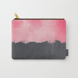 Two color abstract - pink, gray Carry-All Pouch