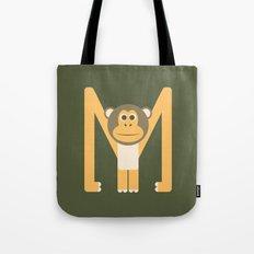 Letter M // Animal Alphabet // Monkey Tote Bag