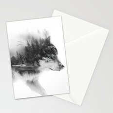 Wolf Stalking Stationery Cards