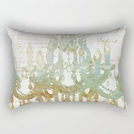 Sea Foam Chandelier Paris Rectangular Pillow