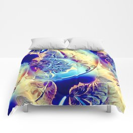 Etched Glass Abstract Comforters