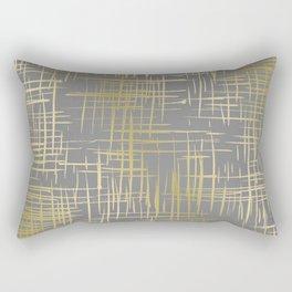 Crosshatch Grey Rectangular Pillow